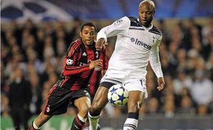 Le défenseur central français de Tottenham, William Gallas, le 9 mars 2011, contre le Milan AC, en Ligue des Champions.