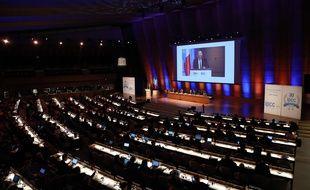 Les experts du Giec réunis au siège de l'Unesco à Paris, le 13 mars 2018.