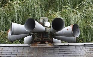 Sirène d'alertes de la caserne des sapeurs-pompiers, Le Gué-de-Longroi, Eure-et-Loir.