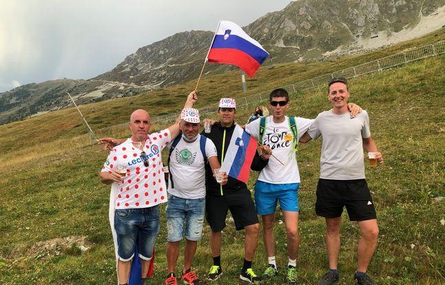 Saso, Mitja, Gregor, Tomasz et Jani se sont régalés mercredi dans l'ascension du col de la Loze.