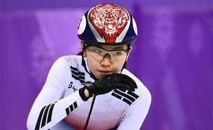 Shim Suk-hee  lors des JO de Pyeongchang.