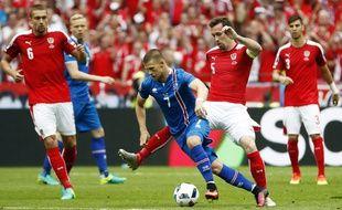 Le match Autriche-Islande, le 22 juin 2016, au Stade de France.
