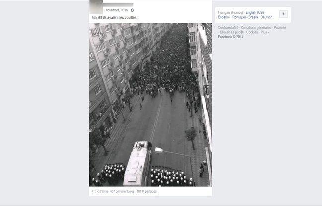 Cette photo n'a pas été prise en mai 68 en France mais en 2013 en Turquie.