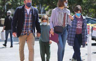 Ben Affleck et la famille, le 16 septembre, à Brentwood.