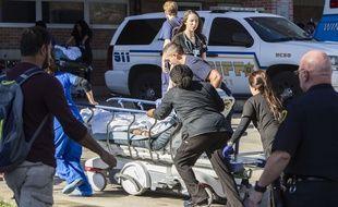 L'hôpital Ben Taub de Houston, dans l'Etat du Texas (Etats-Unis), a été temporairement évacué après le signalement de coups de feu, le 21 février 2017.