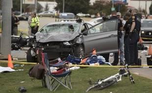 Une voiture a foncé dans la foule, dans l'Oklahoma, le 24 octobre 2015.
