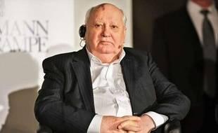 Mikhaïl Gorbachev, l'ancien président de l'Union Soviétique, à Leipzig, en Allemagne, le 15 mars 2013.