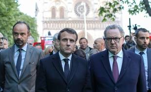 Edouard Philippe, Emmanuel Macron, et Richard Ferrand