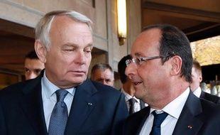 Le président français François Hollande et le Premier ministre Jean-Marc Ayrault, le 20 septembre 2013 à Paris