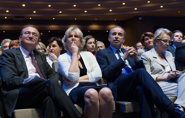 Hervé Mariton, Nadine Morano et Jean-François Copé au Conseil national du parti Les Républicains, le 2 juillet à Paris.
