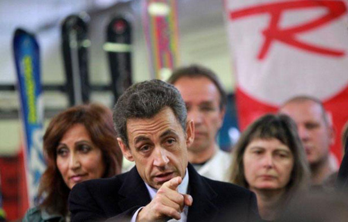 Nicolas Sarkozy en déplacement à Sallanches (Haute-Savoie) le 13 décembre 2011. – DARGENT-POOL/SIPA