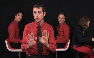 Capture d'écran de la vidéo «J'suis Fillon» des Goguettes en trio (mais à quatre).