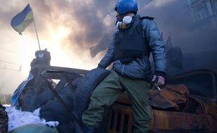 Un manifestant ukrainien, le 18 février 2014