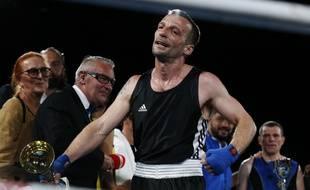 Mathieu Kassovitz a disputé son premier match de boxe anglaise amateur à Deauville, le 10 juin 2017.