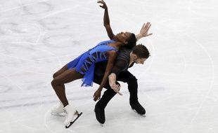 Vanessa James et Morgan Cipres ont décroché la médaille de bronze au Mondiaux de Milan, le 22 mars 2018.