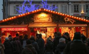 Strasbourg le 09 decembre 2014. Illustrations marche de Noel 2015 dans Strasbourg.