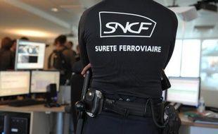 Un agent de sécurité de la SNCF à Paris, le 13 novembre 2014