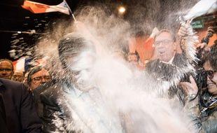 François Fillon a été enfariné à l'arrivée de son meeting à Strasbourg. (Illustration)