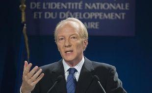 Brice Hortefeux, lors de sa conférence de presse bilan le 13 janvier 2008.