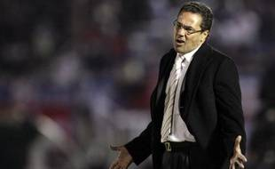 Vanderlei Luxemburgo, sur le banc de Palmeiras, le 17 juin 2009.