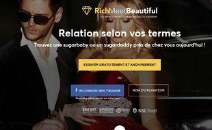 Capture d'écran du site www.richmeetbeautiful.be