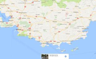 La commune de Saint-Antonin-du-Var se situe à l'ouest de Draguignan.