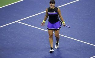 Bianca Andreescu après sa victoire face à Belinda Bencic à l'US Open le 5 septembre 2019.