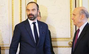 Edouard Philippe et Alain Juppé, à l'hôtel de ville de Bordeaux, le 1er février 2019.