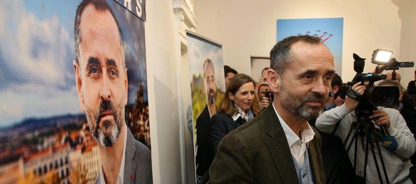 Robert Ménard le 29 janvier 2020, lors de l'inauguration de son local de campagne.