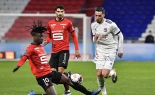 Mattia De Sciglio a signé l'une de ses meilleures prestations sous le maillot lyonnais, le 3 mars face à Rennes.