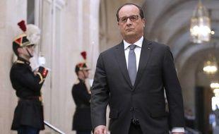 François Hollande à Versailles le 16 novembre 2015.