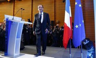 François Hollande lors de la première conférence de presse de sa campagne, le 25 avril 2012.