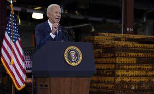 Joe Biden a annoncé son plan pour les infrastructures depuis la ville industrielle de Pittsburgh, le 31 mars 2021.