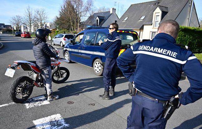 Un contrôle de gendarmerie à Saint-Lunaire (Ille-et-Vilaine)