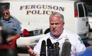 Le chef de la police de Ferguson, Thomas Jackson, le 13 août 2014 à Ferguson