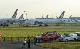 Aéroport Roissy-Charles de Gaulle, le 15 septembre 2014. Des avions du groupe Air France sont cloués au sol en raison d'un mouvement de grève.