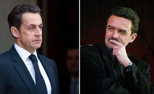 Photomontage de Nicolas Sarkozy et du directeur du site Mediapart, Edwy Plenel.