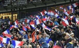 Le public français lors du match entre le XV de France et la Nouvelle-Zélande, le 17 novembre 2017 au Stade de France.