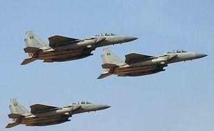 Photo d'archives prise le 1er janvier 2013 d'avions de combat saoudiens lors d'une cérémonie à la King Faisal Air Academy (KFAA), à Riyad. AFP PHOTO / FAYEZ NURELDINE