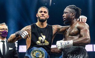 Le boxeur Tony Yoka a remporté le titre vacant de l'Union européenne face au Belge Joel Tambwe Djeko le 5 mars 2021..