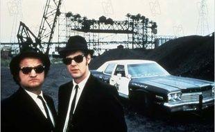 John Belushi et Dan Aykroyd dans Les Blues Brothers de John Landis