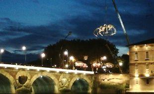 L'Araignée Ariane, lors de sa première apparition animée le 1er novembre 2018 à Toulouse.