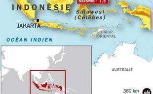 Séisme en Indonésie, le 11 février 2009.