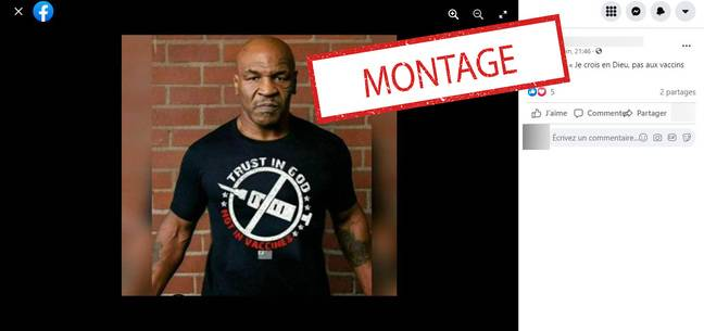 Mike Tyson n'a pas porté ce tee-shirt.