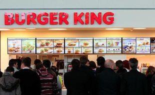 Le restaurant Burger King de l'aéroport Marignane Marseille Provence le 8 janvier 2013.