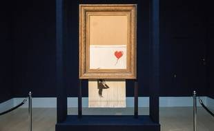 L'oeuvre «Love is in the bin» de Banksy.