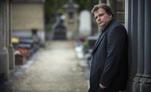 Guillaume Bailly au cimetière du Montparnasse, à Paris, le 16 octobre 2014