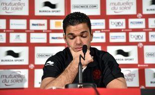 L'attaquant de l'OGC Nice Hatem Ben Arfa, le 5 janvier 2015, lors de sa présentation à la presse.