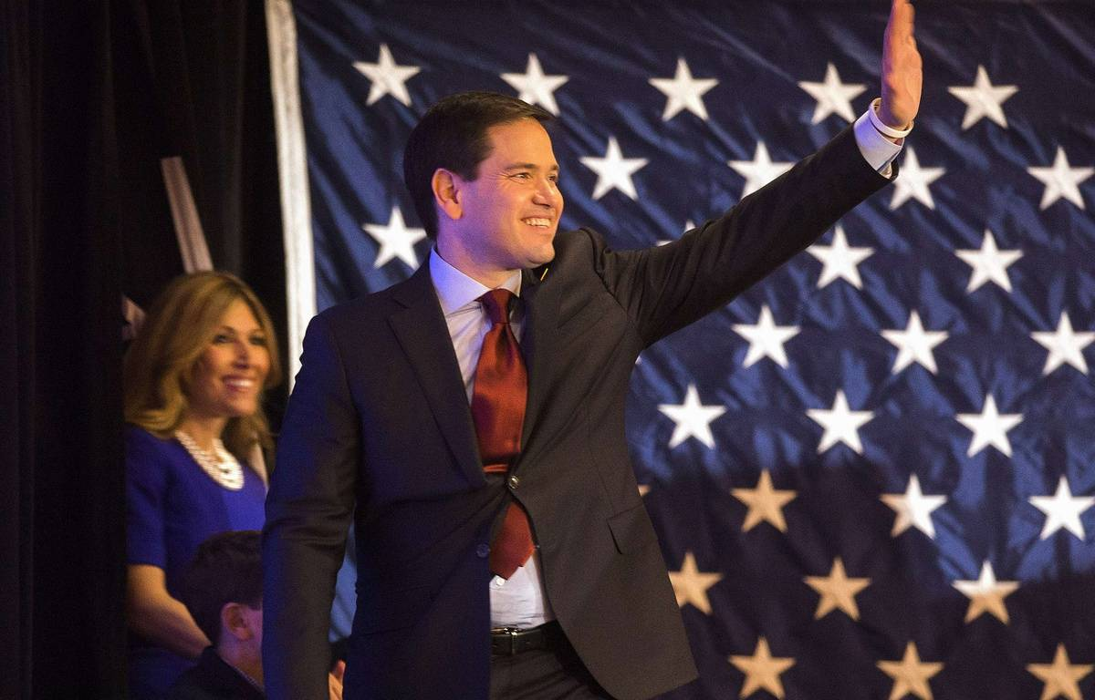 Le candidat républicain Marco Rubio dans l'Iowa, le 1er février 2016. – P.SANCYA/AP/SIPA