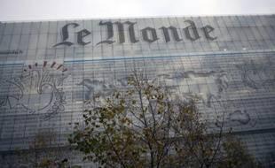 Le siège du Monde à Paris, le 28 novembre 2012
